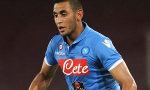 NAPLES, ITALY - AUGUST 02:  Faouzi Ghoulam of SS Napoli in action during the pre-season friendly match between SSC Napoli and PAOK at Stadio San Paolo on August 2, 2014 in Naples, Italy.  (Photo by Paolo Bruno/Getty Images)
