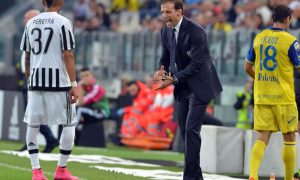 Juventus' head coachMassimiliano Allegri gestures during Italian Serie A soccer match at the Juventus Stadium between Juventus and Chievo, Turin, 12 September 2015. ANSA/DI MARCO