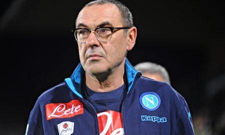 Napoli's coach Maurizio Sarri looks on during the Italian Serie A soccer match ACF Fiorentina vs SSC Napoli at Artemio Franchi stadium in Florence, Italy, 29 February 2016. ANSA/MAURIZIO DEGL'INNOCENTI