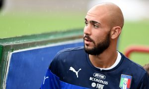 BARI, ITALY - SEPTEMBER 03:  Simone Zaza of Italy during Italy Training Session at Stadio San Nicola on September 3, 2014 in Bari, Italy.  (Photo by Claudio Villa/Getty Images)
