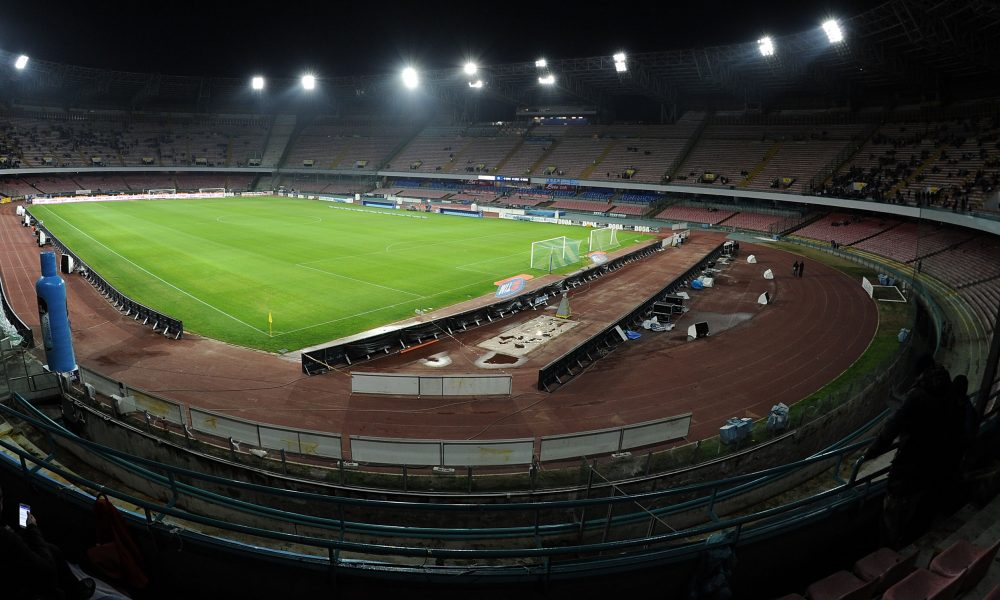 NAPLES, ITALY - JANUARY 15:  General view of Stadio San Paolo before the Tim cup match between SSC Napoli and Atalanta BC at Stadio San Paolo on January 15, 2014 in Naples, Italy.  (Photo by Giuseppe Bellini/Getty Images)
