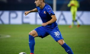 ZAGREB, CROATIA - AUGUST 16: Marko Rog of Dinamo Zagreb in action during the UEFA Champions League Play-offs First leg match between Dinamo Zagreb and Salzburg at Stadion Maksimir on August 16, 2016 in Zagreb, Croatia. (Photo by Srdjan Stevanovic/Getty Images)