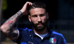 FLORENCE, ITALY - MAY 20:  Lorenzo Tonelli looks on prior to the Italy training session at the club's training ground at Coverciano on May 20, 2016 in Florence, Italy.  (Photo by Claudio Villa/Getty Images)