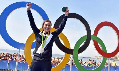 Rio de Janeiro, 15 agosto 2016 XXXI Olimpiadi Rio 2016. Nuoto 10 km donne. Rachele Bruni vince la medaglia d'argento nel nuoto di fondo. Foto di Simone Ferraro / GMT