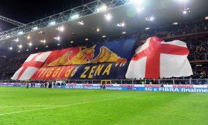 "Genoa vs Sampdoria Campionato Serie A TIM 2015 2016 - Stadio ""Luigi Ferraris"" Nella foto: tifosi genoa"