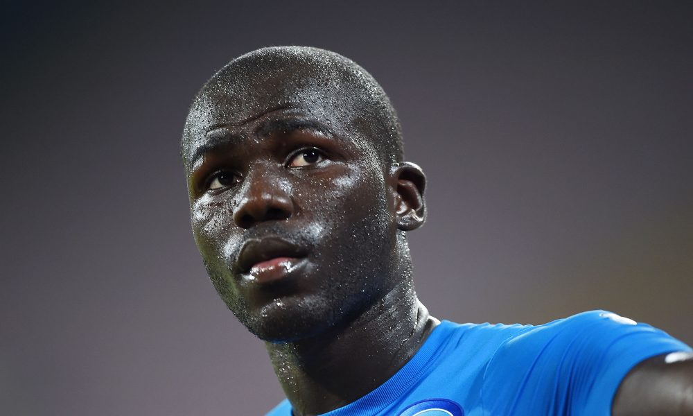 NAPLES, ITALY - AUGUST 01:  Napoli's player Kalidou Koulibaly looks during the pre-season friendly match between SSC Napoli and OGC Nice at Stadio San Paolo on August 1, 2016 in Naples, Italy.  (Photo by Francesco Pecoraro/Getty Images)