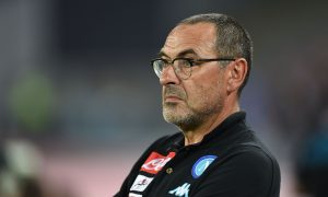 NAPLES, ITALY - AUGUST 01:  Napoli's coach Maurizio Sarri looks during the pre-season friendly match between SSC Napoli and OGC Nice at Stadio San Paolo on August 1, 2016 in Naples, Italy.  (Photo by Francesco Pecoraro/Getty Images)