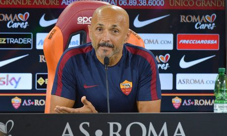 ROME, ITALY - AUGUST 27:  AS Roma coach Luciano Spalletti attends a press conference at Centro Sportivo Fulvio Bernardini on August 27, 2016 in Rome, Italy.  (Photo by Luciano Rossi/AS Roma via Getty Images)