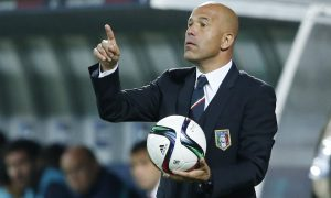 Football - Italy v Portugal - UEFA European Under 21 Championship - Czech Republic 2015 - Group B - City Stadium, Uherske Hradiste, Czech Republic - 21/6/15 Italy U21 coach Luigi Di Biagio Action Images via Reuters / Carl Recine Livepic EDITORIAL USE ONLY. - RTX1HHVB