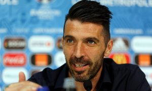 LILLE, FRANCE - JUNE 21:  In this handout image provided by UEFA, Italian goalkeeper Gianluigi Buffon during a press conference on June 21, 2016 in Lille, France.  (Photo by Handout/UEFA via Getty Images)
