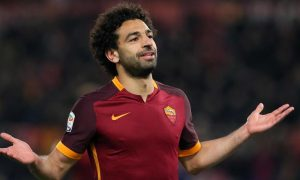 Roma's Mohamed Salah jubilates after scoring the goal of 4-1 during the Italian Serie A soccer match AS Roma vs ACF Fiorentina at Olimpico stadium in Rome, Italy, 04 March 2016. ANSA/ ALESSANDRO DI MEO