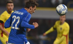 BOLOGNA, ITALY - NOVEMBER 17: Manolo Gabbiadini of Italy in action during the international friendly match between Italy and Romania at Stadio Renato Dall'Ara on November 17, 2015 in Bologna, Italy.  (Photo by Valerio Pennicino/Getty Images)
