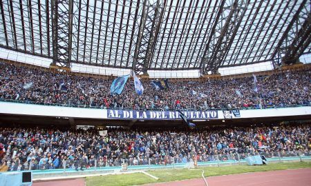 NAPLES, ITALY - FEBRUARY 07: Fans of Napoli  during the Serie A match between SSC Napoli and Carpi FC at Stadio San Paolo on February 7, 2016 in Naples, Italy.  (Photo by Maurizio Lagana/Getty Images)