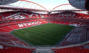 ** TO GO WITH EURO 2004 PREVIEW PACKAGE ** SL Benfica's Luz stadium in Lisbon photographed in April 2004. The stadium will host the final of Euro 2004 on July 4. (AP Photo/Armando Franca)