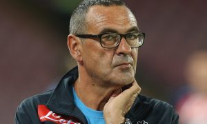 NAPLES, ITALY - AUGUST 30:  HeaD coach of Napoli Maurizio Sarri looks on during the Serie A match between SSC Napoli and UC Sampdoria at Stadio San Paolo on August 30, 2015 in Naples, Italy.  (Photo by Maurizio Lagana/Getty Images)