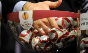The bowl is pictured during the draw for the last 32 of the UEFA Europa League on December 17, 2010 at the UEFA headquarters in Nyon. The matches will be played on February 17 and 24, 2011. AFP PHOTO / SEBASTIEN FEVAL (Photo credit should read SEBASTIEN FEVAL/AFP/Getty Images)
