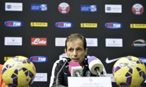 Foto LaPresse - Daniele Badolato 21/12/2014 Doha ( Qatar ) Sport Calcio Supercoppa Italiana 2014 - Juventus vs. Napoli , conferenza stampa Juventus Nella foto: Massimiliano Allegri  Photo LaPresse - Daniele Badolato 21 December 2014 Doha ( Qatar ) Sport Soccer Italian Supercoppa 2014 - Juventus vs. Napoli , Juventus press conference In the pic: Massimiliano Allegri