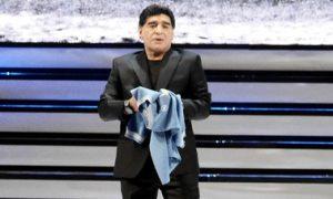 Spett Napoli 16-01-2017 teatro san carlo TREVOLTE10 nella foto Diego Armando Maradona (newfotosud Sergio Siano)