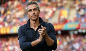 BASEL, SWITZERLAND - AUGUST 09: Head coach Paulo Sousa applauds the fans prior to the Raiffeisen Super League match between FC Basel and FC Zurich at St. Jakob-Park on August 9, 2014 in Basel, Switzerland. (Photo by Philipp Schmidli/Bongarts/Getty Images)