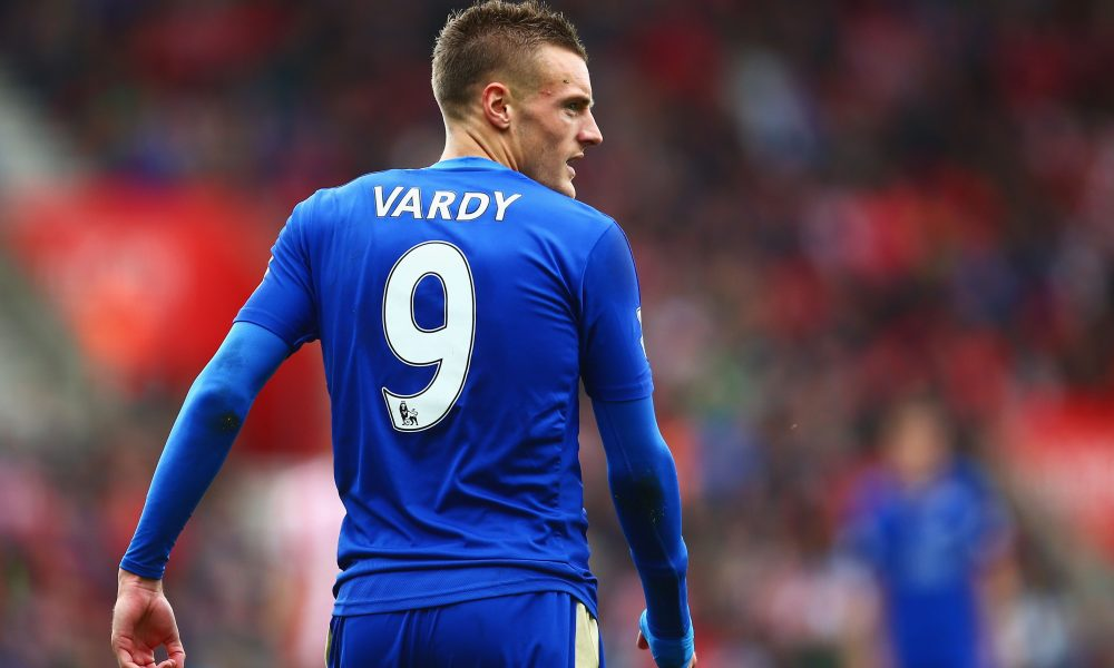 SOUTHAMPTON, ENGLAND - OCTOBER 17: Jamie Vardy of Leicester City looks on during the Barclays Premier League match between Southampton and Leicester City at St Mary's Stadium on October 17, 2015 in Southampton, England.  (Photo by Jordan Mansfield/Getty Images)