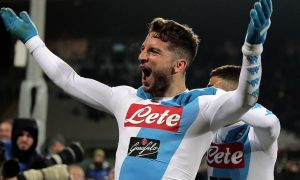 FLORENCE, ITALY - DECEMBER 22: Dries Mertens of SSC Napoli celebrates after scoring a goal during the Serie A match between ACF Fiorentina and SSC Napoli at Stadio Artemio Franchi on December 22, 2016 in Florence, Italy.  (Photo by Gabriele Maltinti/Getty Images)