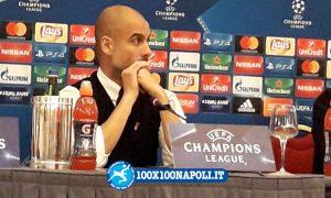 Conferenza pre-match Champions Manchester City. Guardiola e Silva (FOTO di Alberto Caccia)