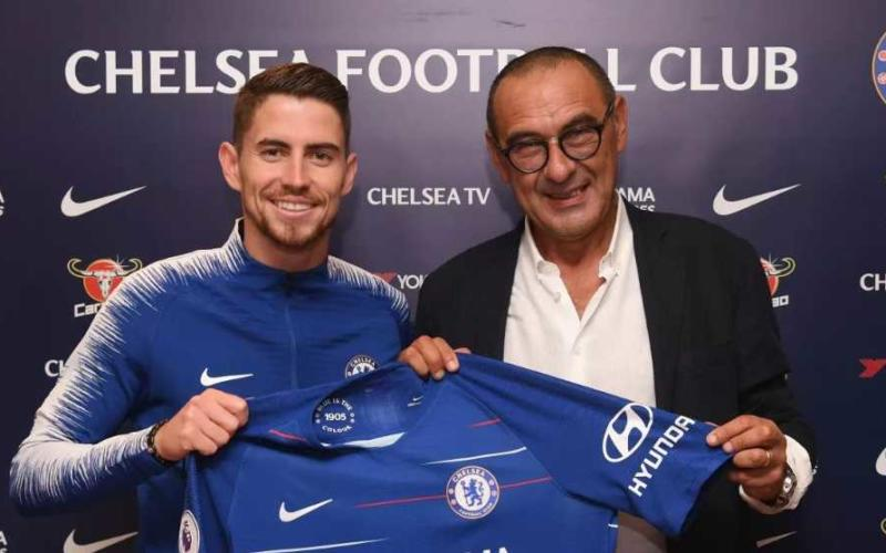 Sarri e Jorginho al Chelsea