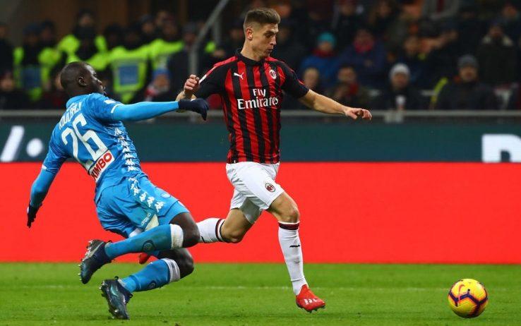Milan Napoli Koulibaly Piatek