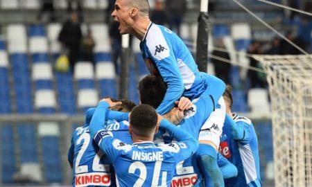Sassuolo Napoli Esultanza