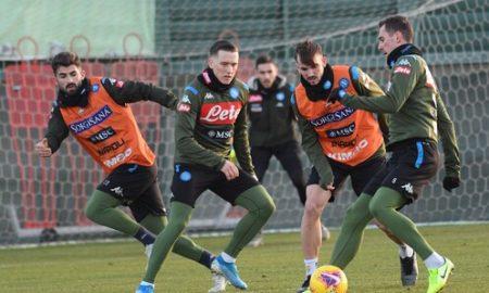 Napoli Allenamento report ufficiale