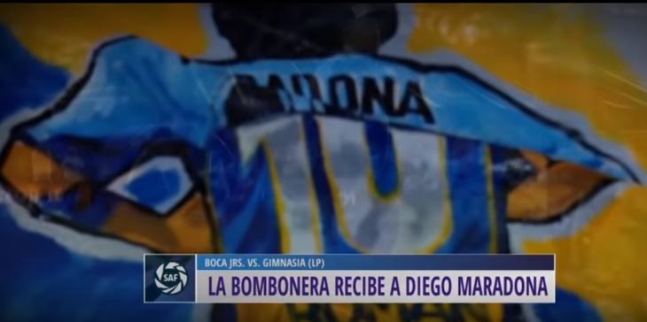 maradona bombonera boca juniors napoli